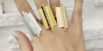 gold plated and silver plated rings